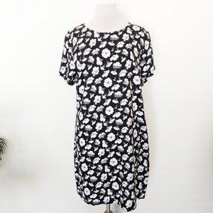 NWT Fashion Union Black Floral Daisy Shift Dress